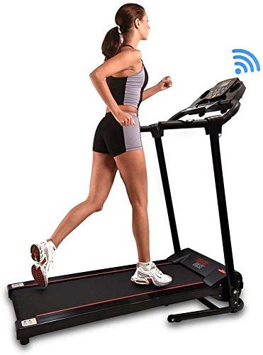 máquina de ejercicio plegable digital inteligente cinta de correr eléctrica motorizada con aplicación deportiva descargable para correr y caminar pares de teléfonos computadoras portátiles y tabletas