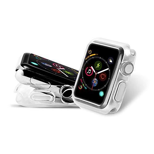 AOLANDER Apple Watch Series 4 40mm Hülle Handyhülle TPU Case Cover,Leicht Flexible Rugged Armor Hybrid Defender Shockproof Schutzhülle (2 Stück / Transparent)