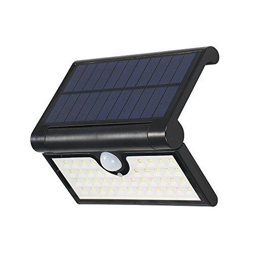 Freien Licht Im Bewegung Empfindlich (Lixada 42 LEDs faltbare Solarbetriebene Energie-Wand-Lampe mit empfindlicher PIR-Bewegungs-Sensor-Lichtsteuerung IP65 Wasserbeständigkeit SMD2835 für Patio-Yard-Garten im Freien.)