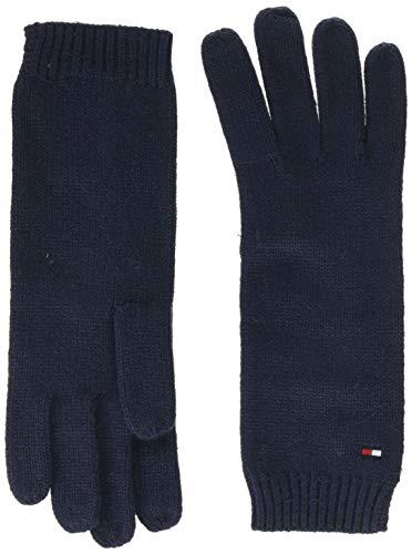 Tommy Hilfiger Flag Knit Gloves Guanti, Blu (Blue Cjm), Unica (Taglia Produttore: OS) Donna