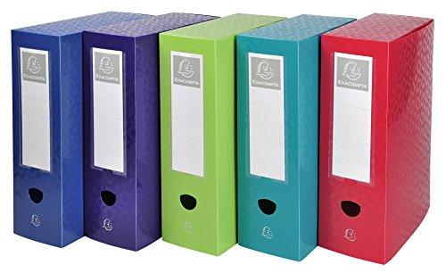 Offix 59820e a4pp scatola per archivio con bottone automatico–multicolore (confezione da 5)