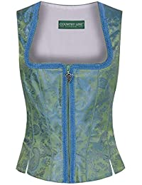 Country Line Damen Trachten-Mode Mieder Nora in Oliv Traditionell