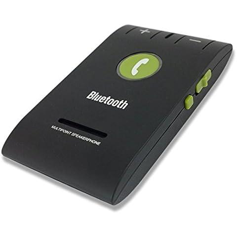 Kit Manos Libres Para Coche Bluetooth 4.0 Negro Visera Con Altavoz Para Dispositivos Smartphone