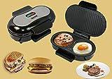 WLM Mini bistecca, omelette all'hamburger, macchina per panini panini, kebab di pane,nero,Taglia unica