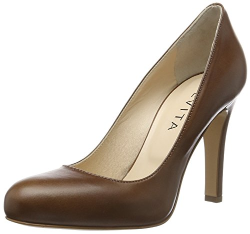 Evita Shoes - Cristina, Scarpe col tacco Donna Braun (Cognac 26)