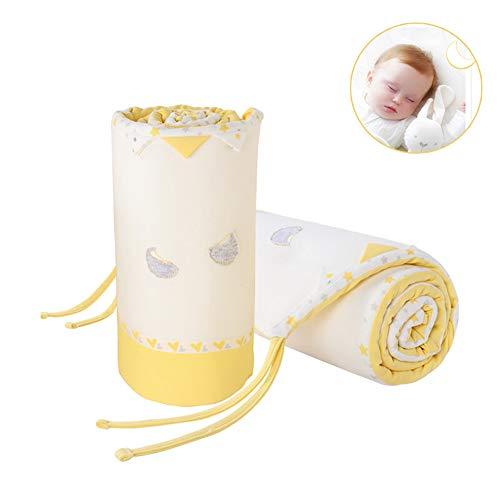 LYXCM Baby Nestchen Bettumrandung, Krippe Zaun Anti-Kollisions-Pad Baumwolle Krippe 2 Stück Windschutzscheibe Umgebenden Stern Teich -