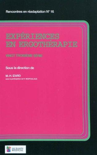 Expériences en ergothérapie : 23e série