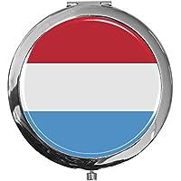 """metALUm - Extragroße Pillendose in runder Form""""Flagge Luxemburg"""" preisvergleich bei billige-tabletten.eu"""