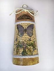 teja decorativa con mariposa y escritura vintage