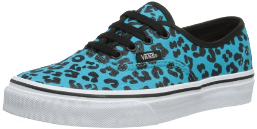 Vans Authentic Glitter (Vans K Authentic, Unisex-Kinder Lauflernschuhe Sneakers, Türkis (Glitter Cheetah/Peacock), 27.5 EU)