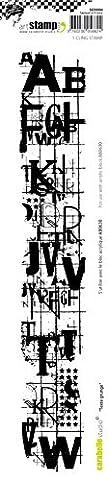 Carabelle Studio SED0004 Tampon Edge Motif Grunge Text Caoutchouc Blanc/Transparent 31 x 6 x 1,5 cm