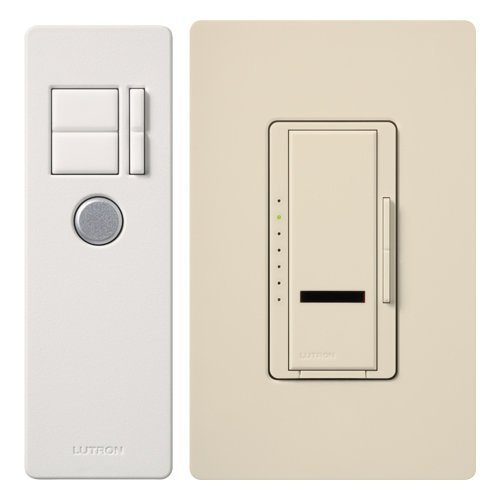Lutron MIR-600T-LA Maestro IR 600-Watt Single-Pole Dimmer with IR Remote Control, Light Almond by Lutron