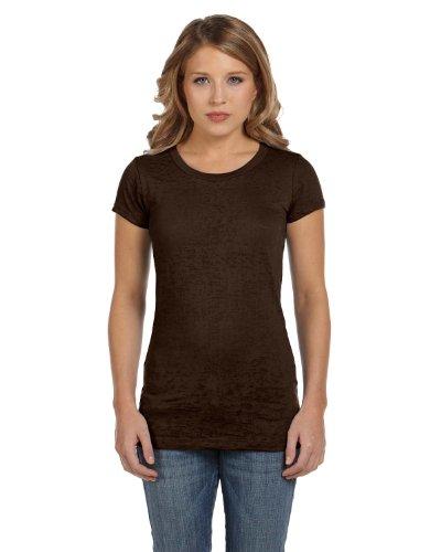 Modisches Top 'Bernadette Burnout Tee' - Farbe: Chocolate - Größe: M -