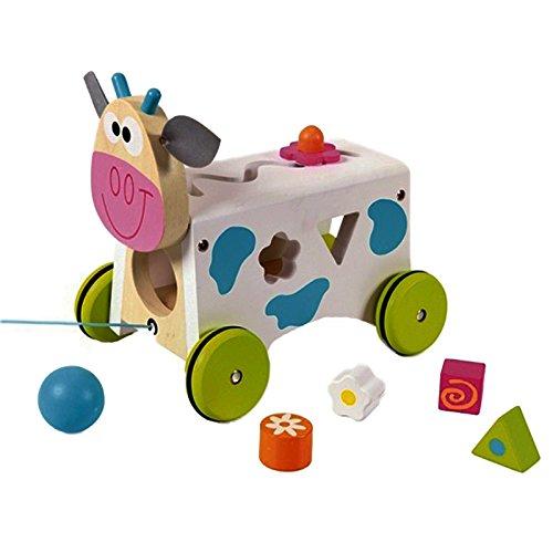 """Scratch, Giocattolo da trainare """"Mucca Marie"""", Multicolore (bunt), Modelli/Colori Assortiti, 1 Pezzo"""