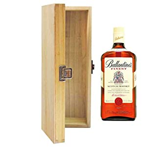 700ml Ballantines Finest Whisky in Hinged Wooden Gift Box by Ballantines