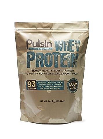 Pulsin' Unflavoured Whey Protein Powder, 1kg