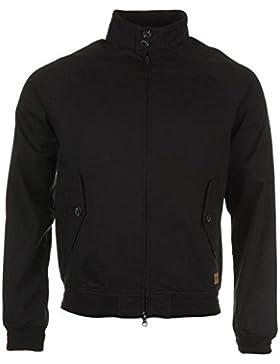 Firetrap Blackseal Harrington chaqueta para hombre color negro chaquetas abrigos Outerwear, negro, mediano