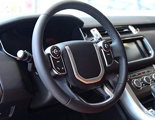 ABS mat Int/érieur volant Bouton Cadre Garniture d/écorative Coque 2 pcs pour Accessoire de voiture RNCP