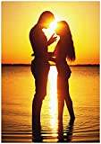 Wallario Wand-Bild 70 x 100 cm | Motiv: Liebespaar im Sonnenschein | Direktdruck auf 5mm Starke Hartschaumplatte | leichtes Material | günstig