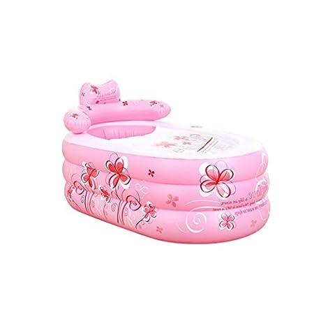 Baignoire gonflable pour enfant portable portable Baignoire gonflable pliante et épaissie pour adulte (couleur: rose) QLM-Inflatable Bathtub and Inflatable plunge bath