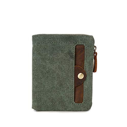 Happyplus1 Herren Vintage Mini GeldböRSE, Slim Short Wallet für Männer, Casual Vintage Travel 6 Slot Kreditkarteninhaber Thin Wallet Gift (Farbe : Coral Blue)
