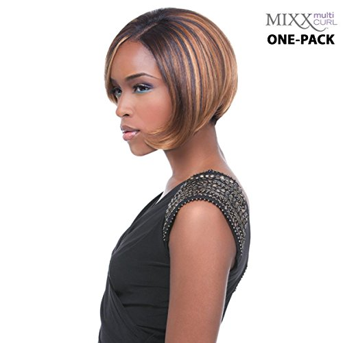[4 mèches Pack complet + Closure] sensationnel HH Glossy Ultra Multi Curl (Mixx) – Human Hair Blend Weave (One Pack Complete)