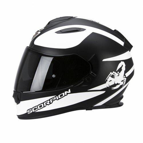 Scorpion Helm, Matt Schwarz/Weiß, (Spanisch Outfit)