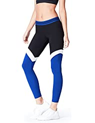 FIND Leggings Sportivi Colour Block Donna