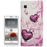 Rocina Strass Hardcase für LG P760 Optimus L9 Herzen pink weiß