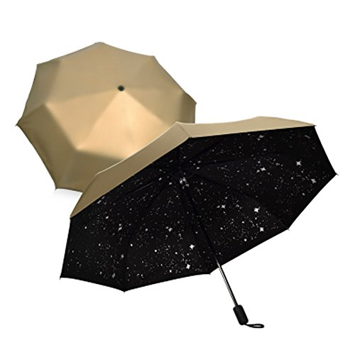 Automatische 3 Folding Umbrella Windproof Anti-UV Outdoor-Regen / Sonnenschirm A