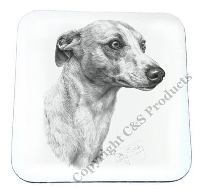 Mike Sibley Whippet Dog Beverage Coaster