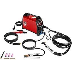 Stamos Germany S-WIG 200 IGBT WIG-Schweißgerät Schweißmaschine (WIG- und E-Hand-Schweißen, 20 bis 200 A Schweißstrom, IGBT-Inverter, 2t/4T-Schalter, Luftkühlung)