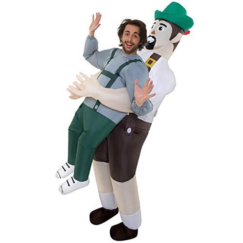 Morph MCPIBA Aufblasbares Kostüm, Unisex, Lederhosen, Einheitsgröße Erwachsene