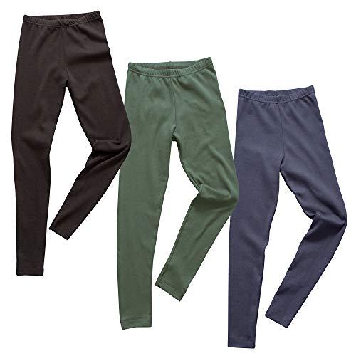 HERMKO 2720 3er Pack Kinder Legging aus Bio-Baumwolle, Größe:152, Farbe:Mix s/m/o