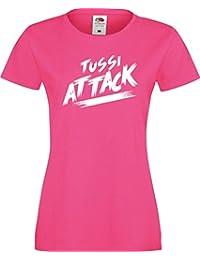 ShirtInStyle Lady T-Shirt Tussi Attack,viele Farben, Größe XS-XXL