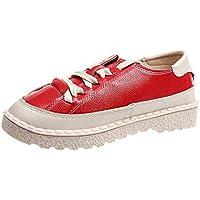 Naturazy Zapatos Mujer Deportivas Primavera OtoñO Verano Mocasines Zapatillas Casuales Planos Cuero con Cordones Tobillo Botas