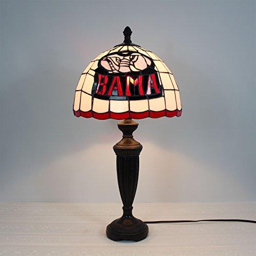 12-Zoll-Alabama Crimson Tide Alphabet eine Glasmalerei Tischlampe