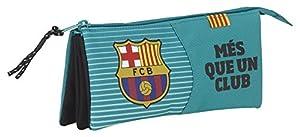 Safta Estuche Escolar F.C.Barcelona 3ª Equip. 16/17 Oficial 220x30x100mm