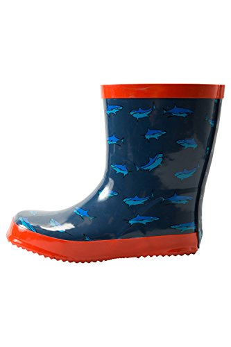 Mountain Warehouse Steve Backshall Shark Kids Wellies Blau