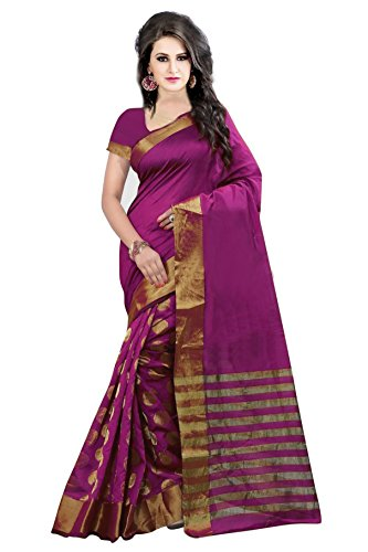 Best Collection Women\'s Art Silk Saree With Blouse Piece (Bc_Pink_Goli_602_Pink)