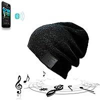 Gorro de invierno lavable con tejido doble, Bluetooth, auriculares inalámbricos estéreo y control musical
