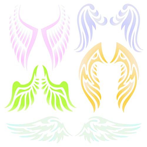 Angel Wing Schablone-wiederverwendbar Christian Guardian Engel Flügel Wand Schablone-Vorlage, auf Papier Projekte Scrapbook Tagebuch Wände Böden Stoff Möbel Glas Holz usw. L (Verschiedene Arten Von Angel Wings)