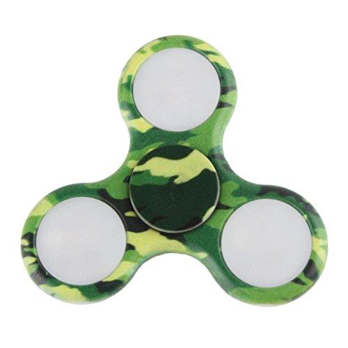 Preisvergleich Produktbild Hand Fidget Spinner LED Lichter Fidget Hand Spinner Spielzeug blinkt EDC Anti-Stress Fidget Finger Spielzeug leuchten ADD Angst Langeweile (Grün)