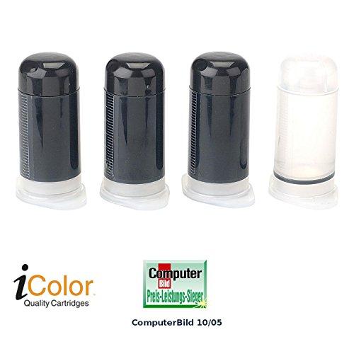 iColor Universaltinte: Universal-Refill-Kit SCHWARZ, 60ml + Reiniger (Tinte Nachfüllpack)