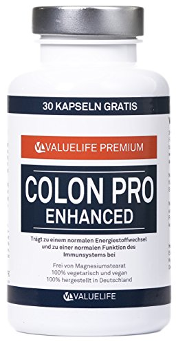 Colon Pro I Entgiftung - Detox Cleanse - Darmreinigung I Innovative Algen - Kräuter - Extrakt Mischung mit 17 wertvollen Zutaten I 120 Kapseln I Nahrungsergänzung von Valuelife