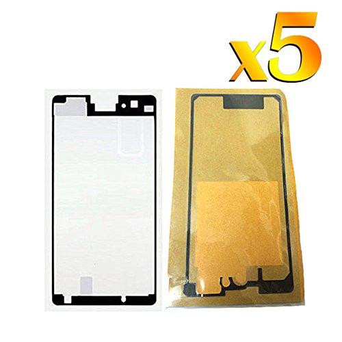 BisLinks 5 x Per Sony Z1 Compact Front & Back Toccare Schermo Bicchiere Adesivo Colla Tape Sostituzione Parte