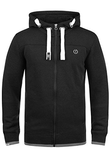!Solid BenjaminZip Herren Sweatjacke Kapuzenjacke Hoodie mit Kapuze Reißverschluss und Fleece-Innenseite, Größe:M, Farbe:Black (9000)