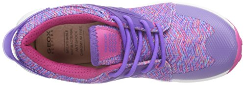 Geox J ASTEROID GIRL B, Sneakers basses fille Violet - Violett (FUCHSIA/VIOLETC8370)