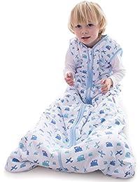 09fe2caa51f Snoozebag Planes and Trains 100% Cotton Boys 2.5 Tog Nursery Baby Sleeping  Bag Blue 18