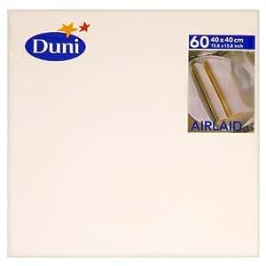 Duni Airlaid 60 babeurre Serviettes 40 x 40 cm (Lot de 12 x 60)